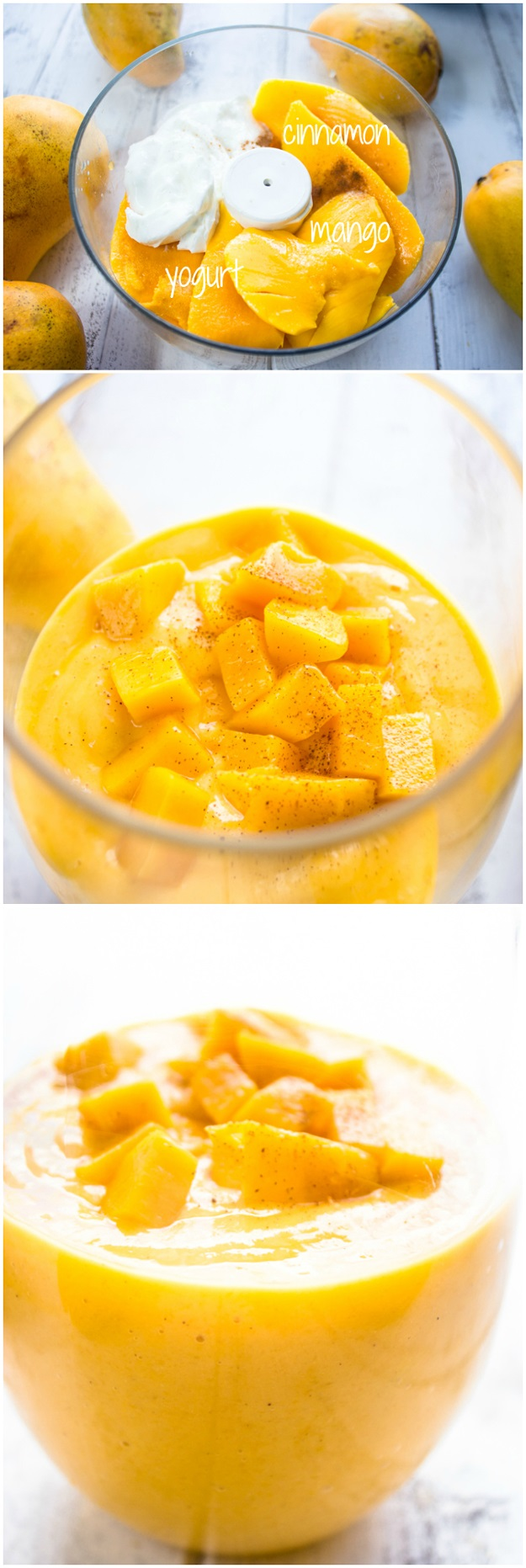 smoothie mango y yogur griego